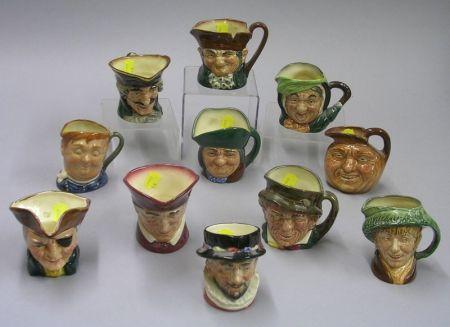 Eleven Small Royal Doulton Character Jugs