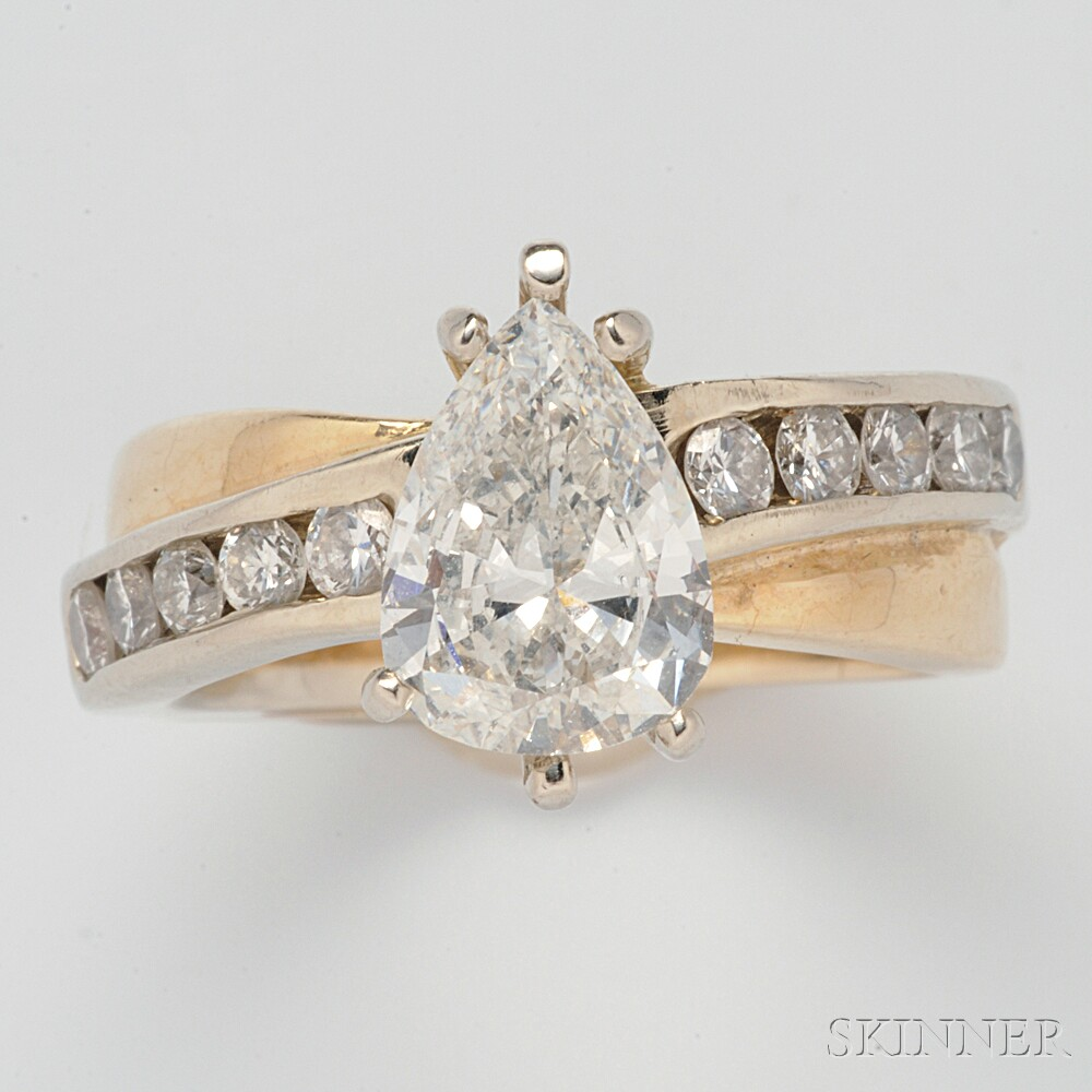 14kt Bicolor Gold and Diamond Solitaire
