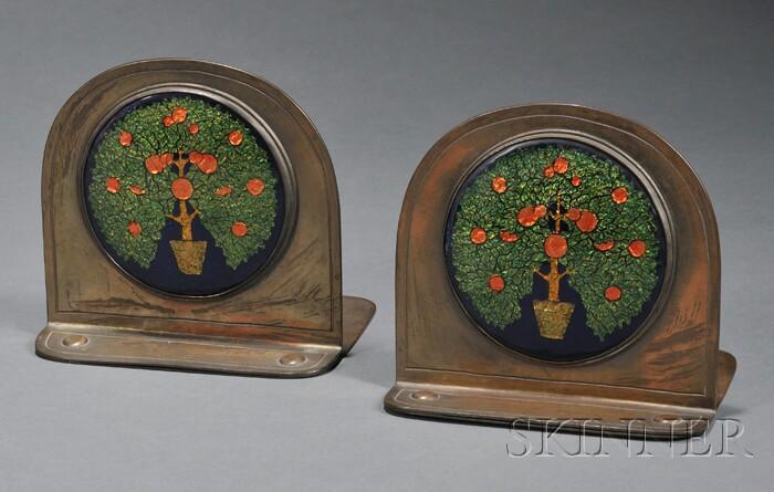 Pair of Rebecca Cauman Arts & Crafts Bookends