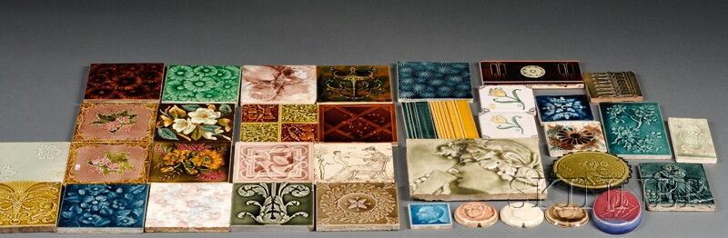 Thirty-seven Pottery Tiles
