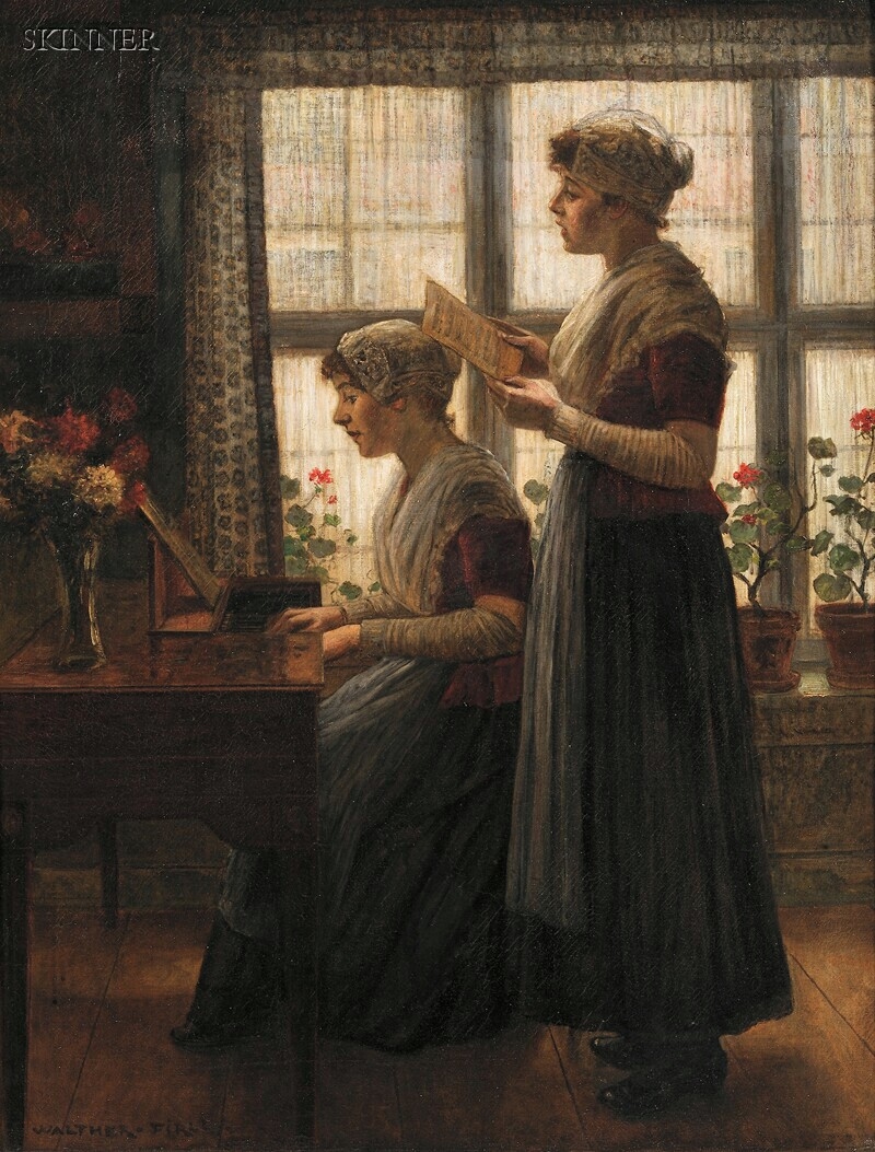 Walter (Walther) Firle (German, 1859-1929)      The Song