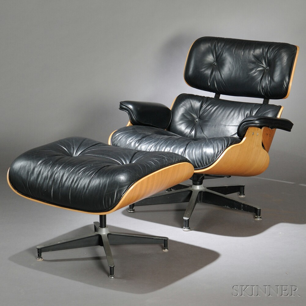 charles and ray eames lounge chair 670 and ottoman 671 sale number 2692b lot number 403. Black Bedroom Furniture Sets. Home Design Ideas