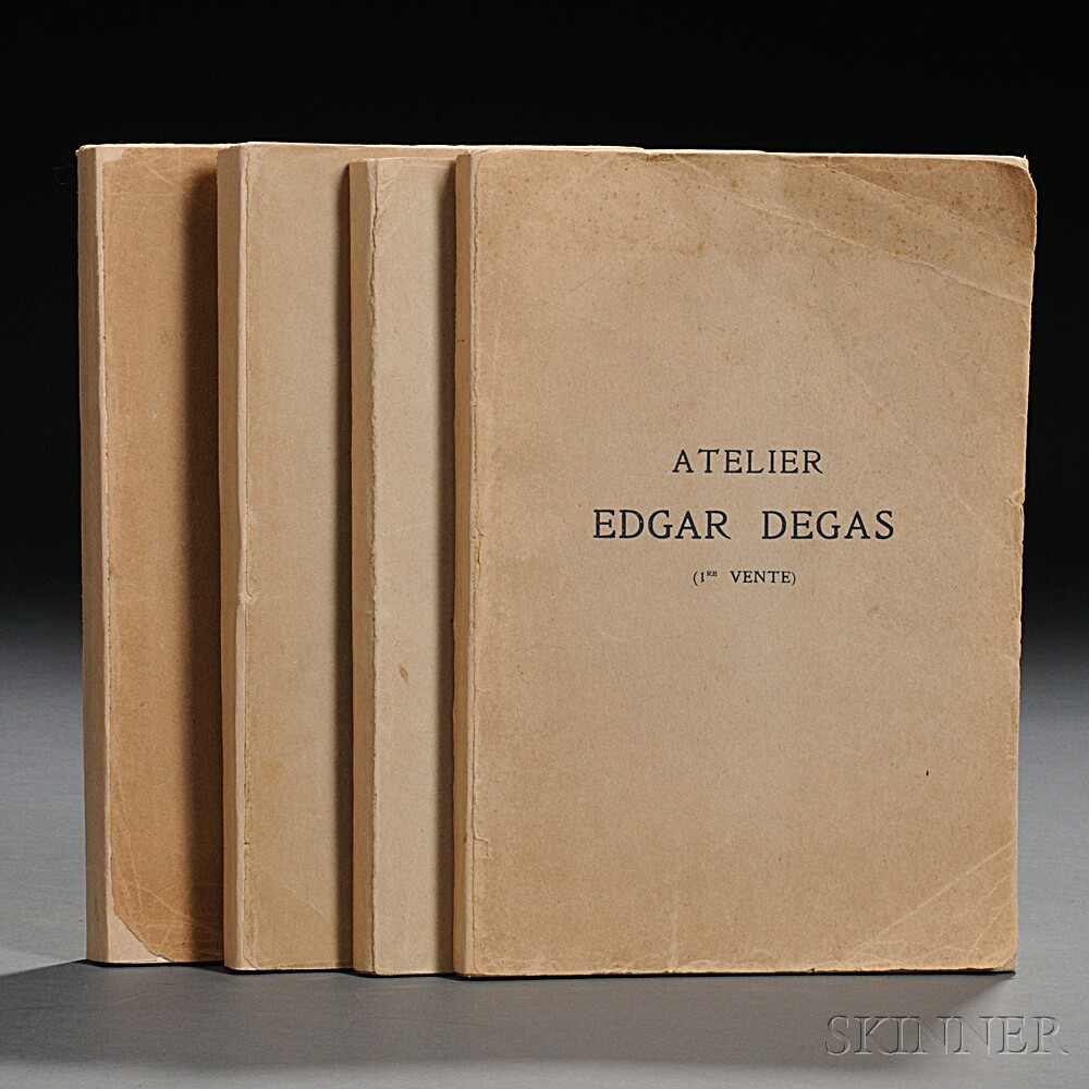 Degas, Edgar (1834-1917) Catalogue des Tableaux, Pastels, et Dessins.   Volumes I-IV.
