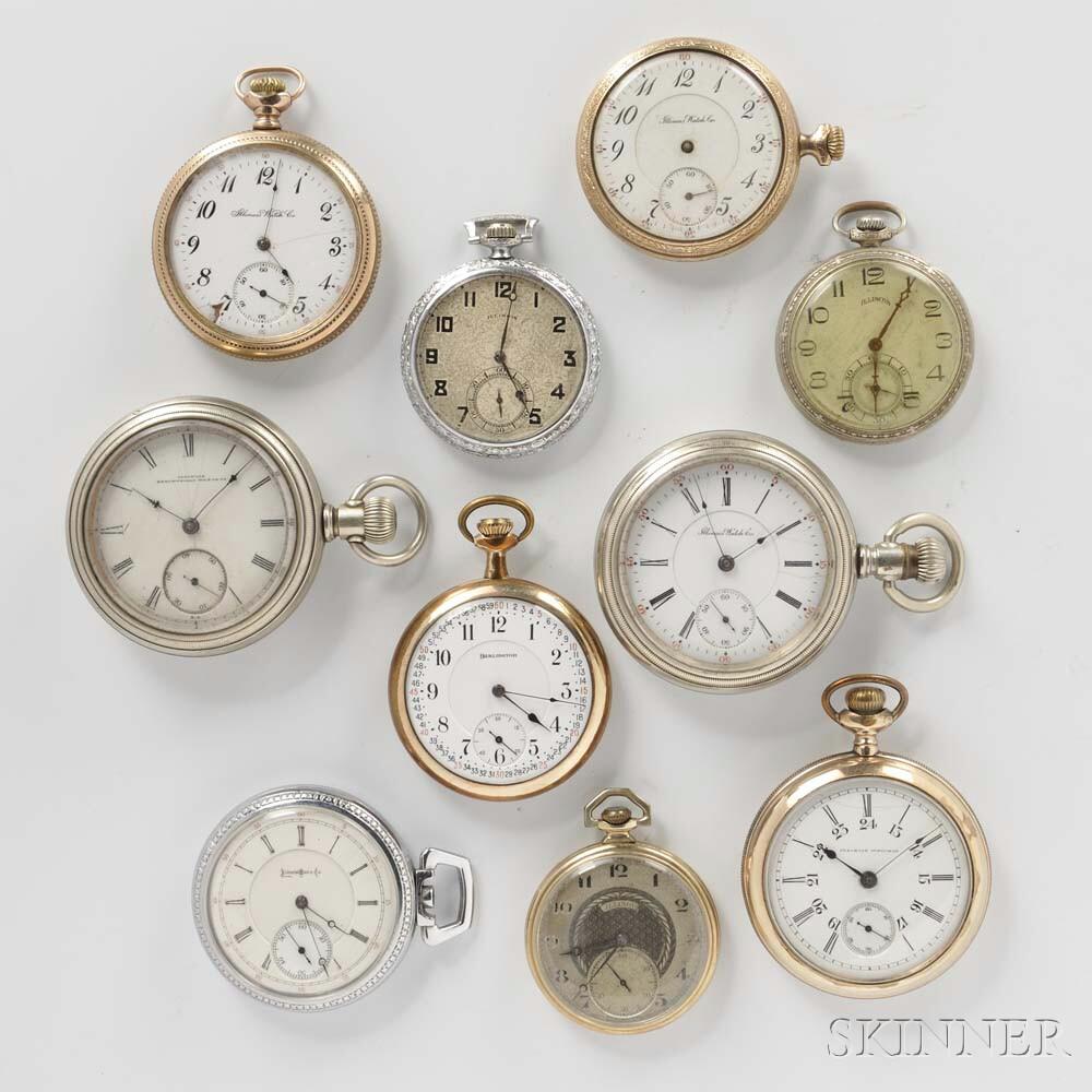 Ten Illinois Pocket Watches