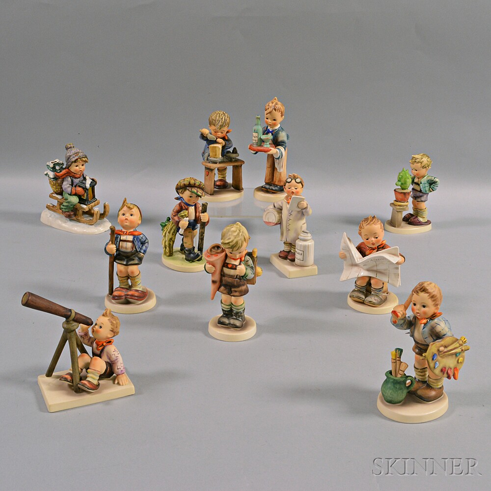 Eleven Hummel Figures
