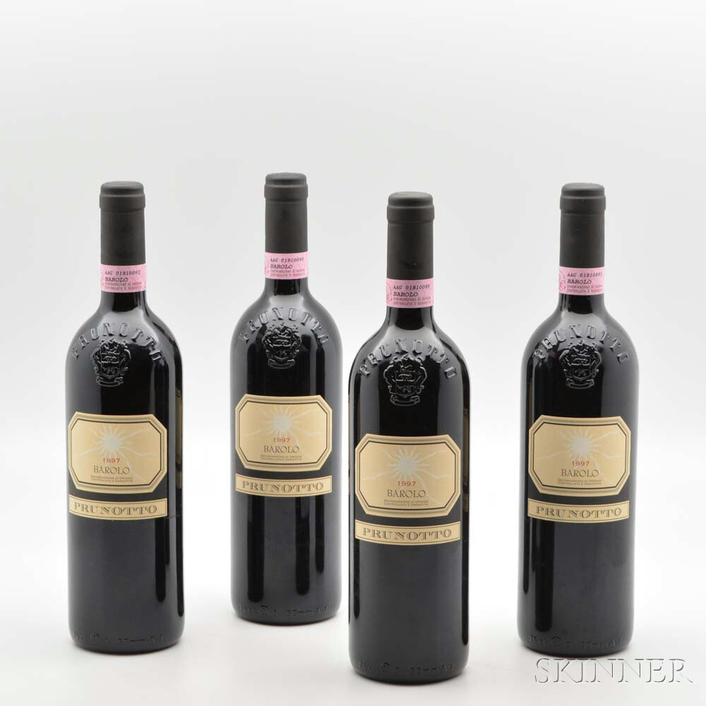 Prunotto Barolo 1997, 4 bottles