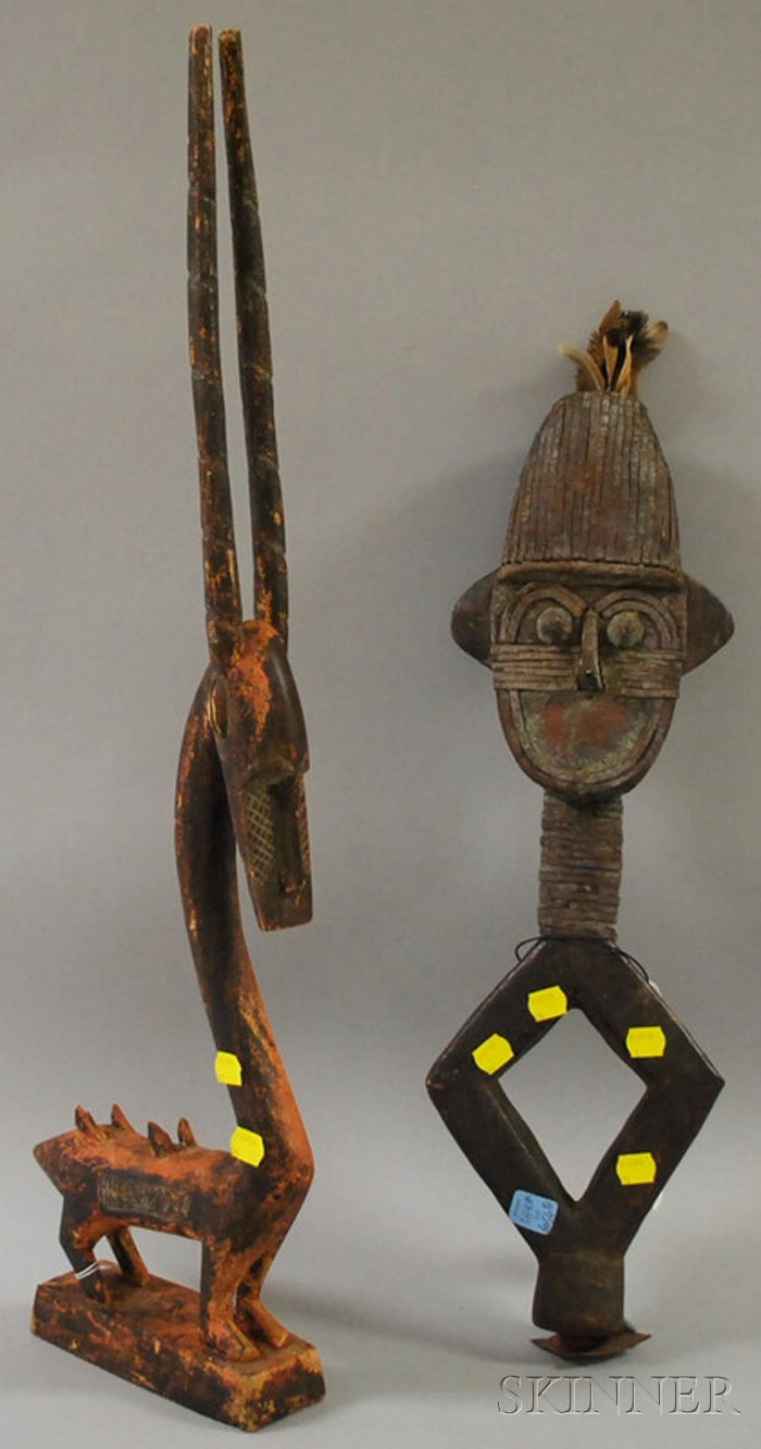 Two African Carved Wooden Figures