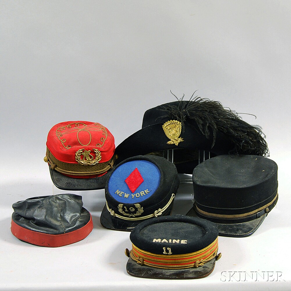 Group of Assorted Civil War Hats