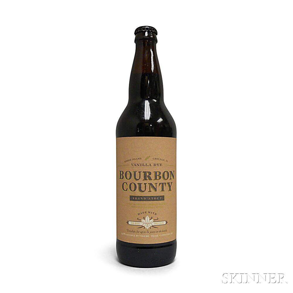 Goose Island Beer Company Vanilla Rye Bourbon County Brand Stout 2014, 1 22oz bottle
