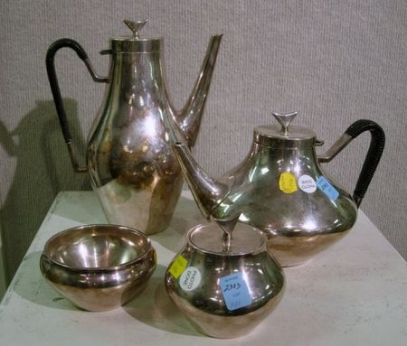 Four-Piece John Pripp Silver Plated Tea Set