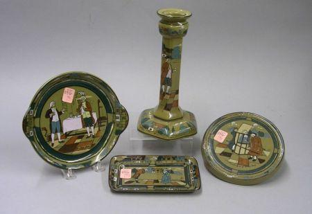 Four Buffalo Pottery Deldare Ware Table Items