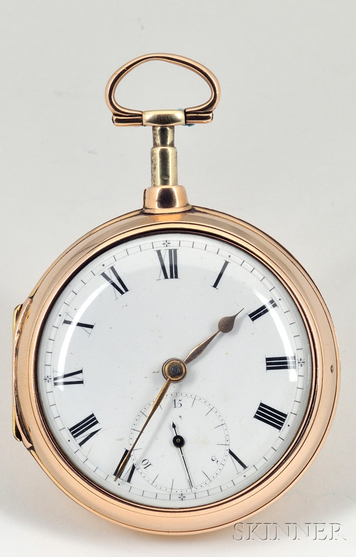 18kt Gold Pair-Cased Rack Lever Watch by Litherland & Company