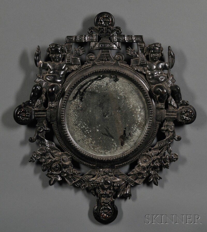Victorian Mixed-metal and Plaster Mirror