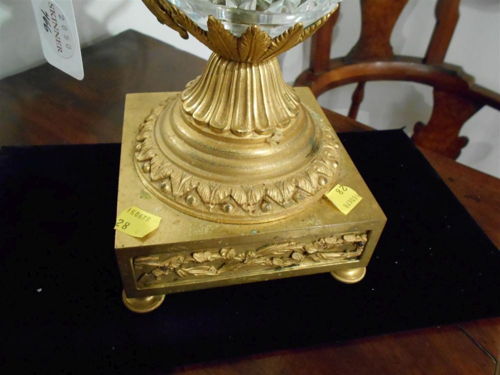 Gilt-bronze and Cut Glass Lamp Base