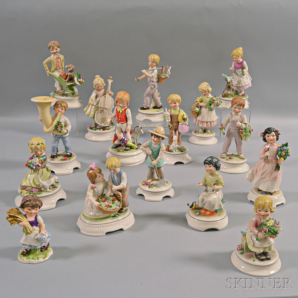 Sixteen Goebel Porcelain Figures of Children