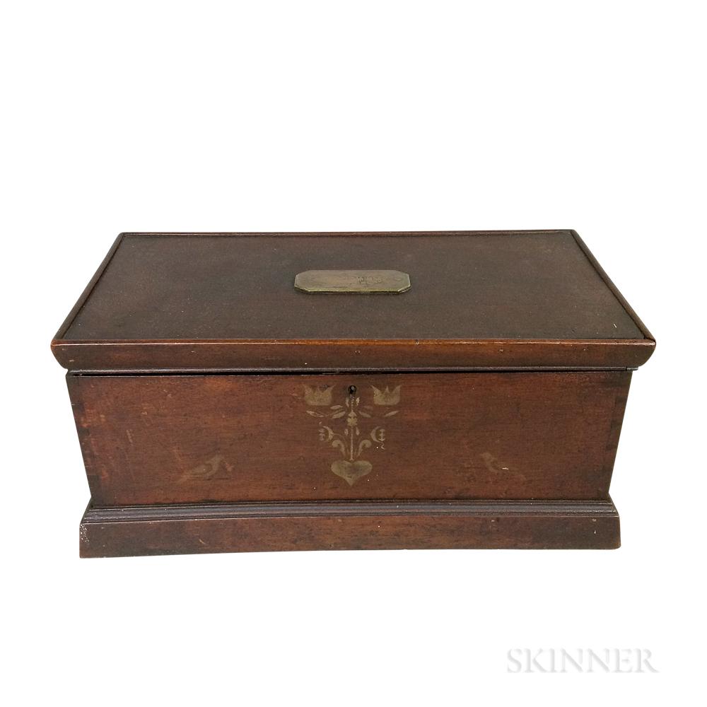 Stenciled Mahogany Box