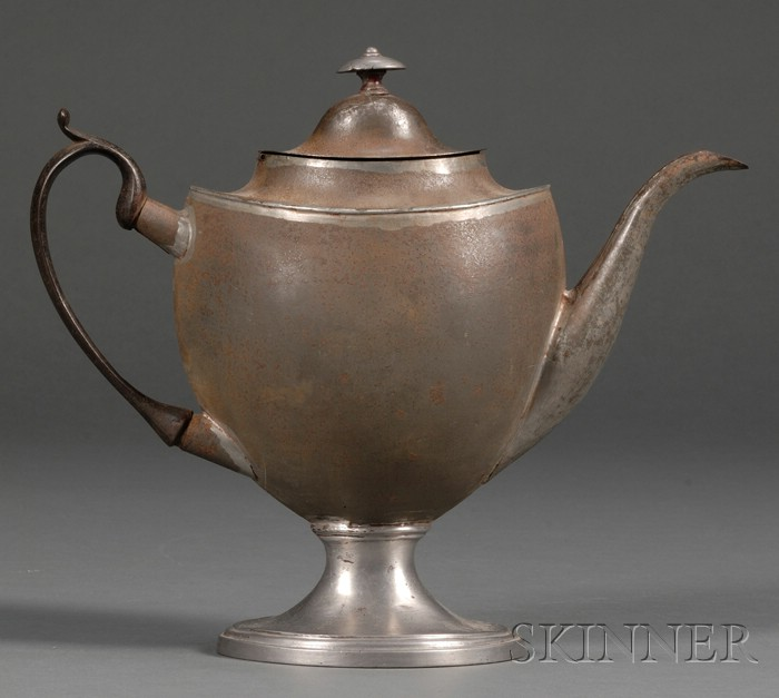 Tin and Pewter Coffeepot
