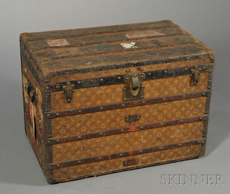 Louis Vuitton Wood-strapped Cloth-bound Steamer Trunk