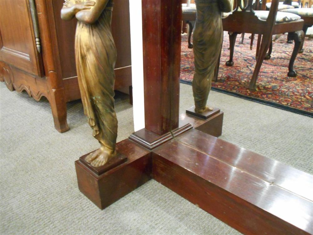 French Empire-style Marble-top Mahogany Pier Table