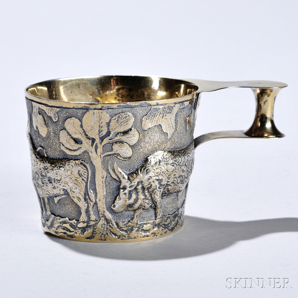 "Edward VII Sterling Silver-gilt Reproduction ""Vapheio Cup,"""