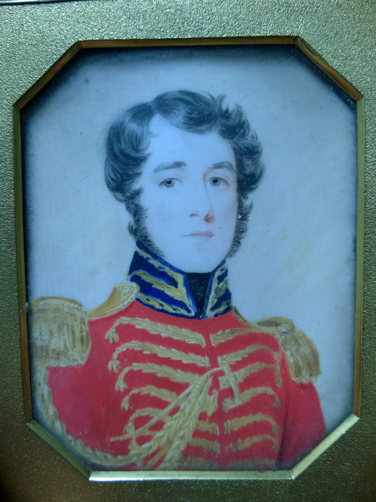 Watercolor Miniature Portrait Of A Military Officer Sale