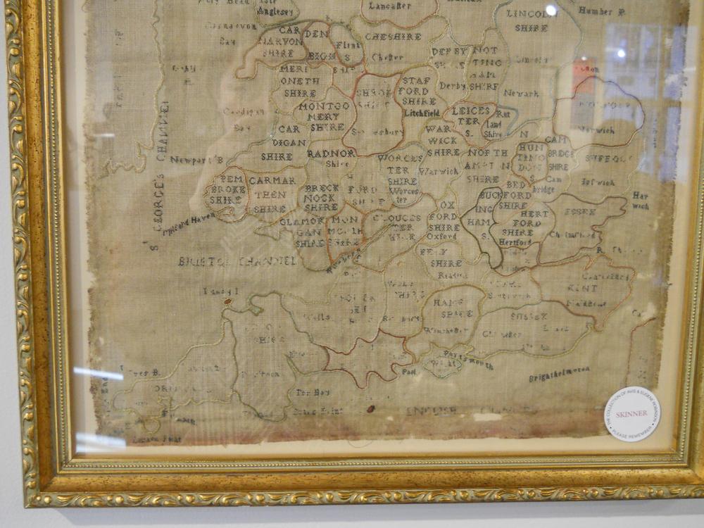 Needlework Map of England