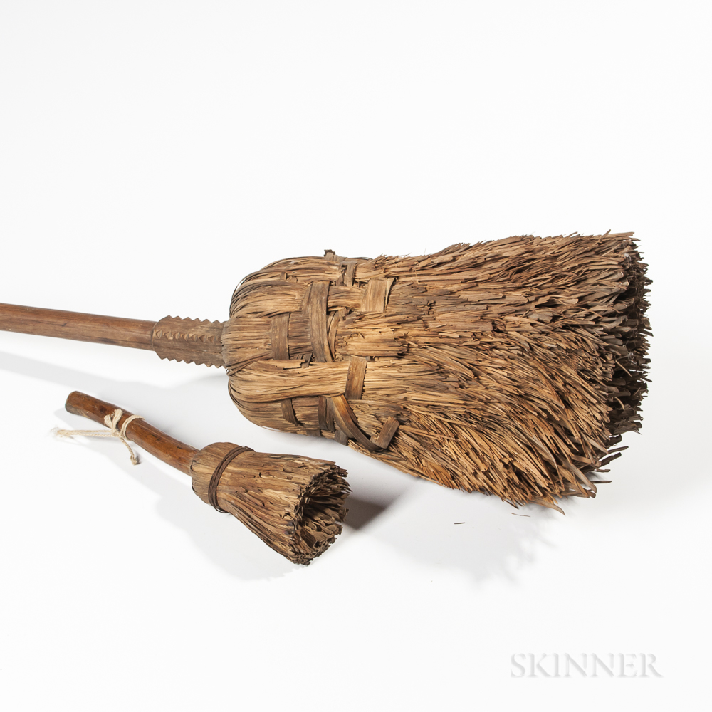 Early Cornhusk Broom and Splint Brush