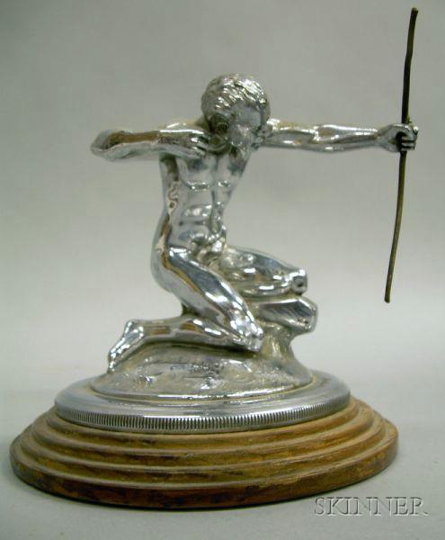 Pierce Arrow Chrome Hood Ornament, designed by William Schnell, c. 1932