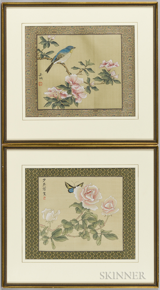 Four Framed Paintings