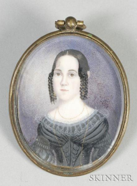Portrait Miniature of a Young Lady,    c. 1835