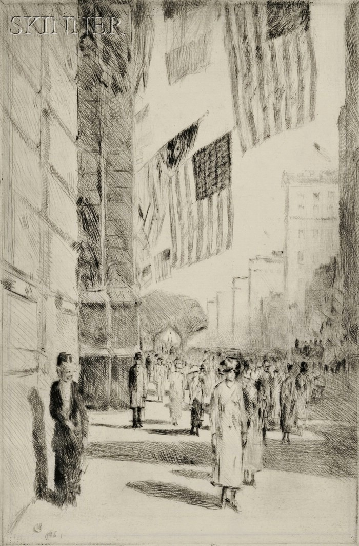 Frederick Childe Hassam (American, 1859-1935)      The Avenue of the Allies
