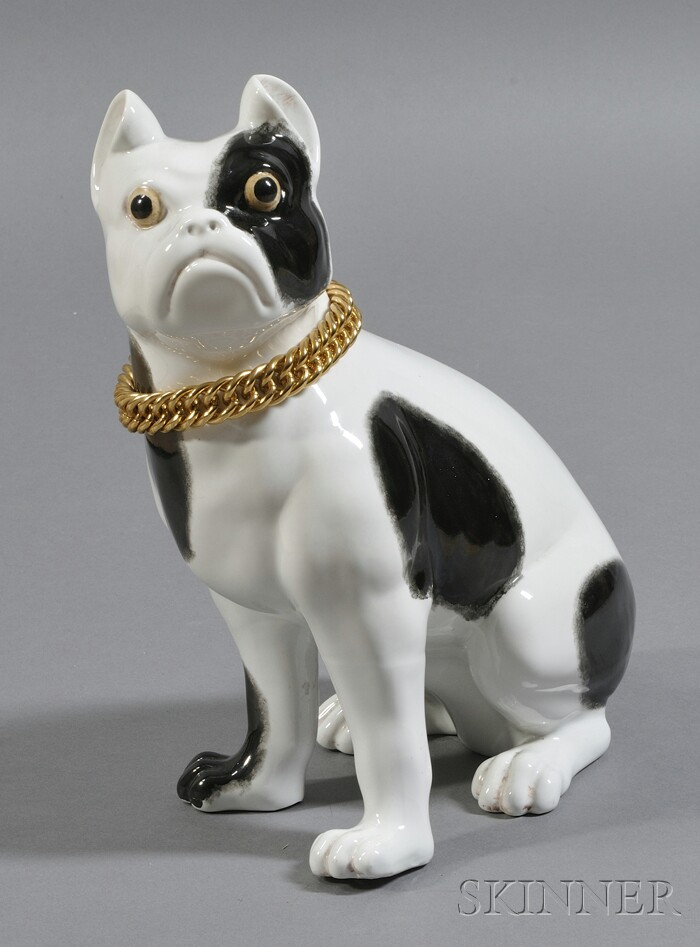 Ceramic French Bulldog Figure