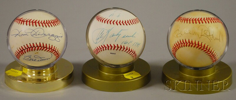 Three Autographed Baseballs