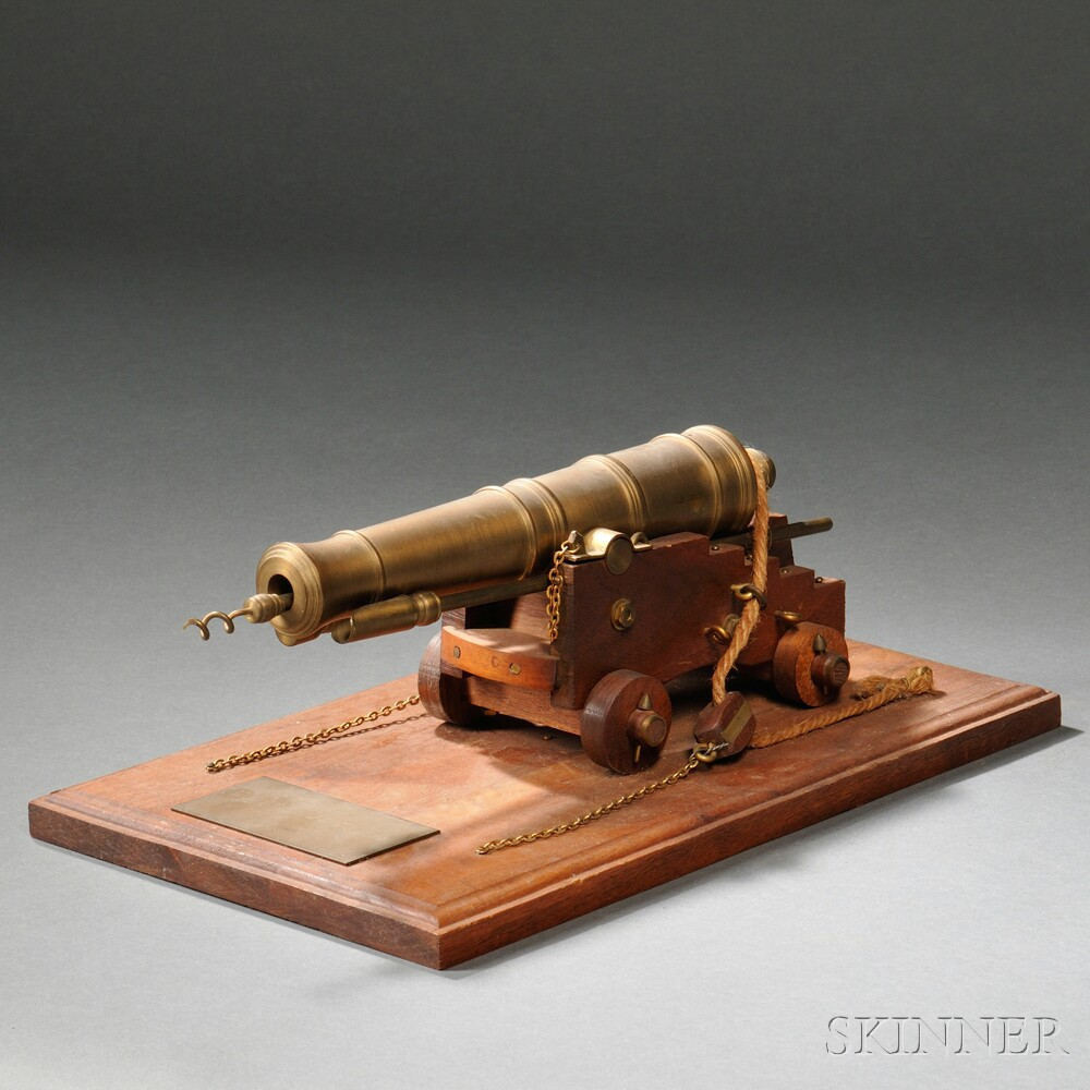 Brass Twenty-four pound Naval Deck Cannon Model