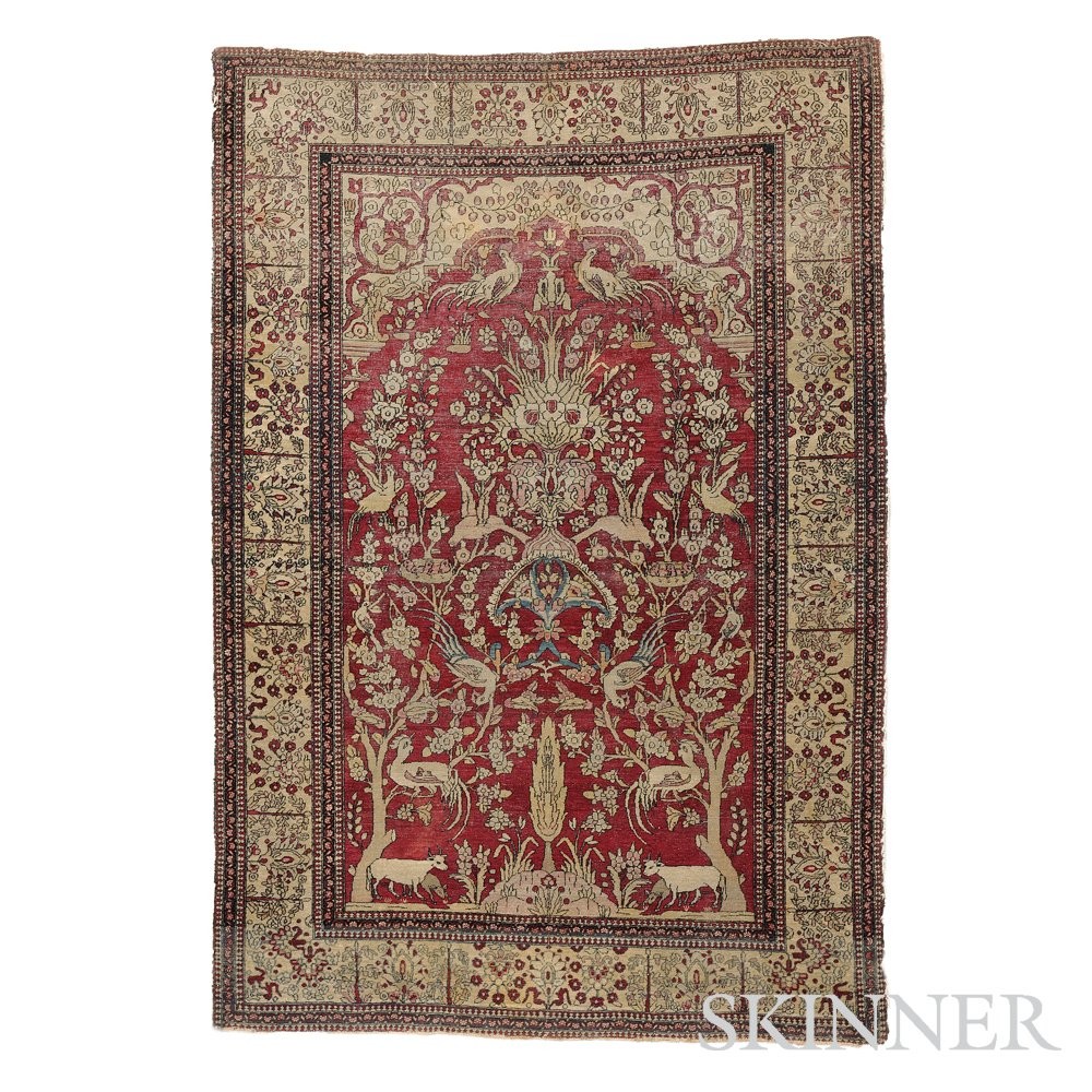 Prayer Rug Types: Realized Price For Kerman Prayer Rug