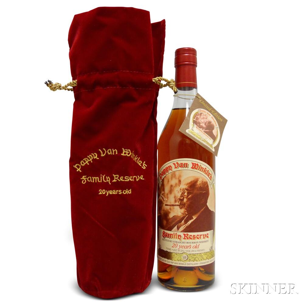 Pappy Van Winkle Family Reserve Bourbon 20 Years Old 2014, 1 750ml bottle