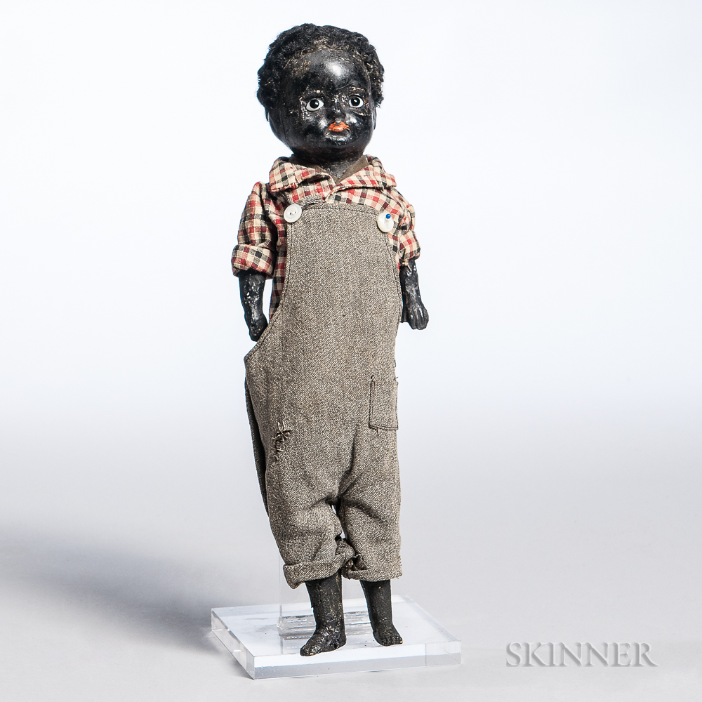 Black Papier-mache Boy Doll