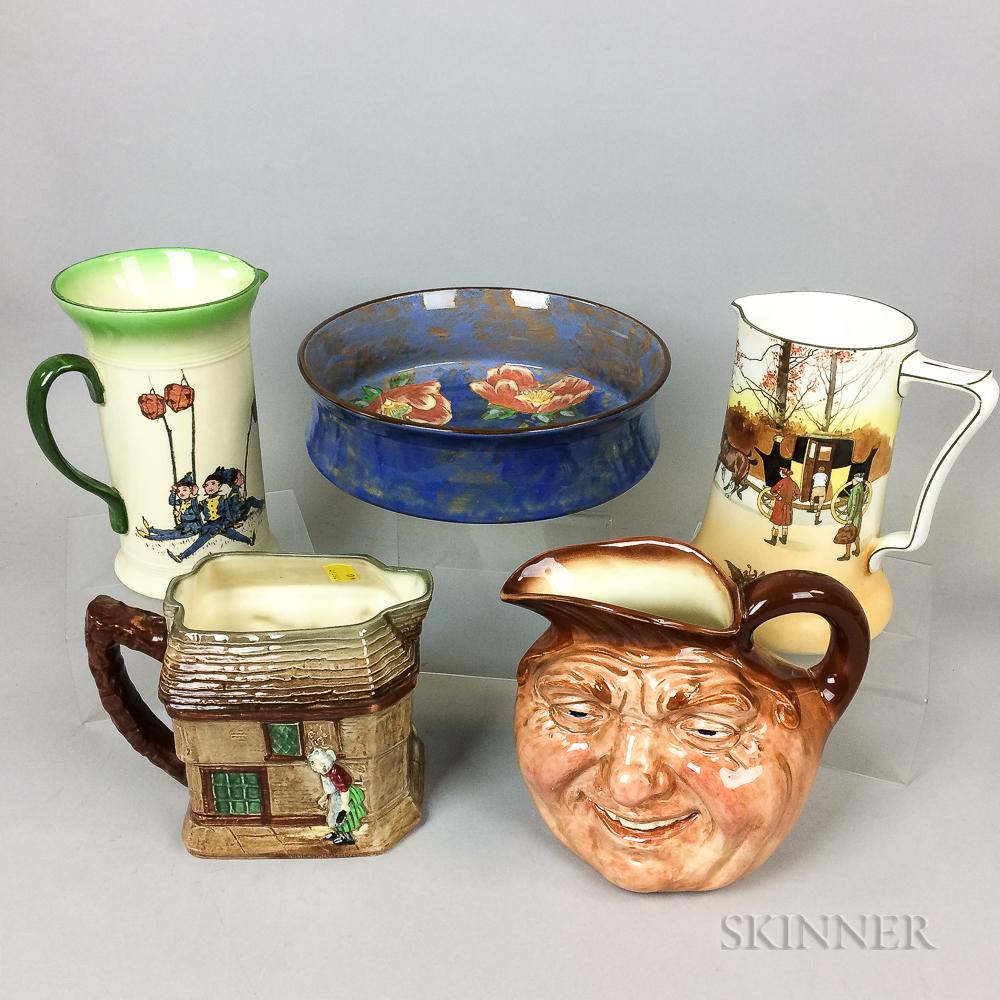 Five Royal Doulton Ceramic Items