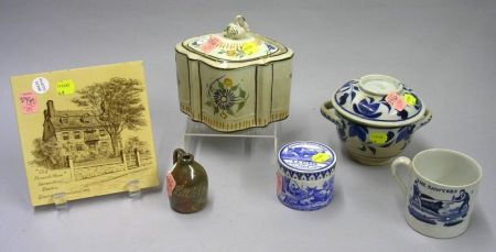 Group of Early English and Assorted Pottery