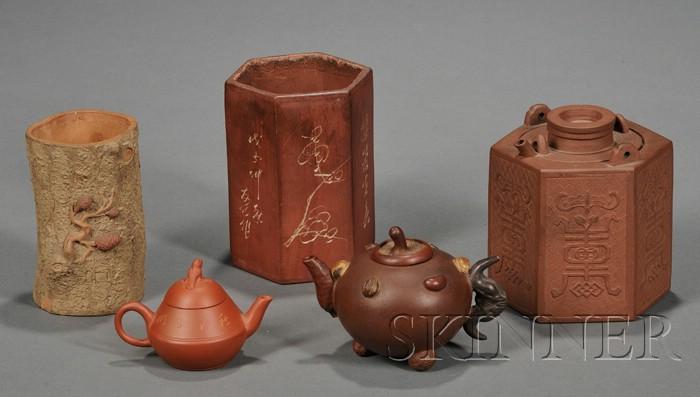 Five Yixing Wares