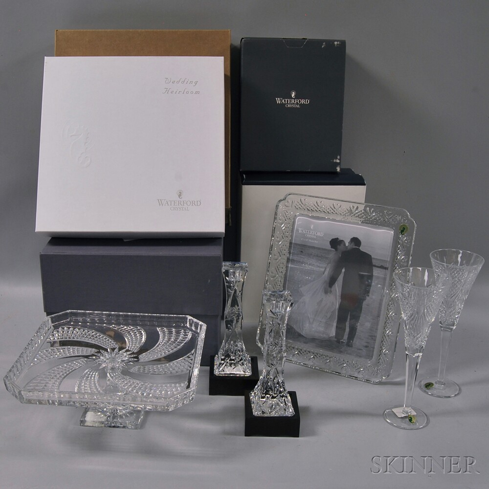 Six Waterford Leaded Crystal Glass Items
