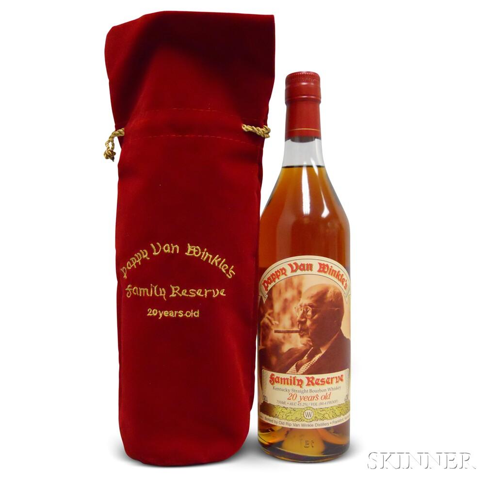 Pappy Van Winkle Family Reserve Bourbon 20 Years Old 2015, 1 750ml bottle