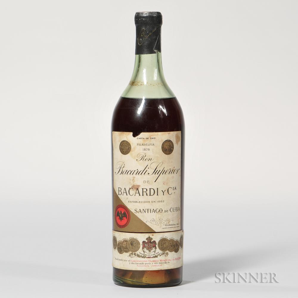 Ron Bacardi Superior, 1 bottle bottle
