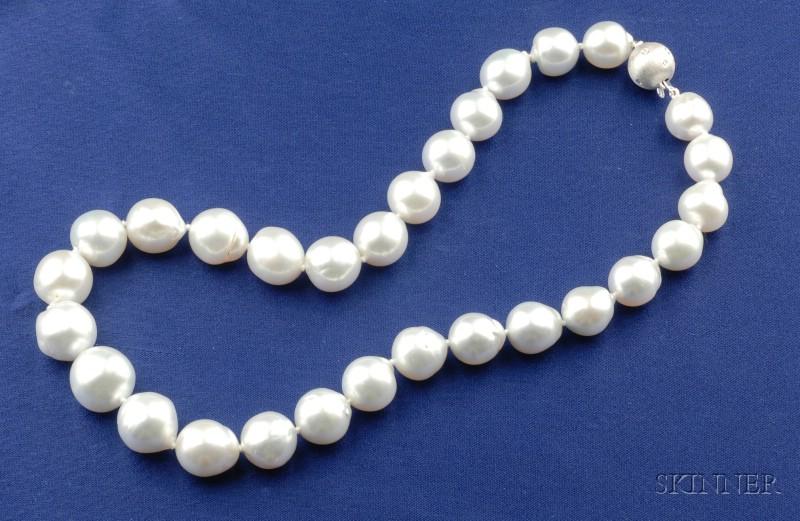 South Sea Semi-Baroque Cultured Pearl Necklace