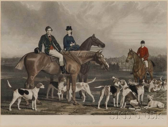James R Scott (British, 1809-1871) Engraver, After Stephen Pearce      (British, 1819-1904)  The Heythorp Hunt