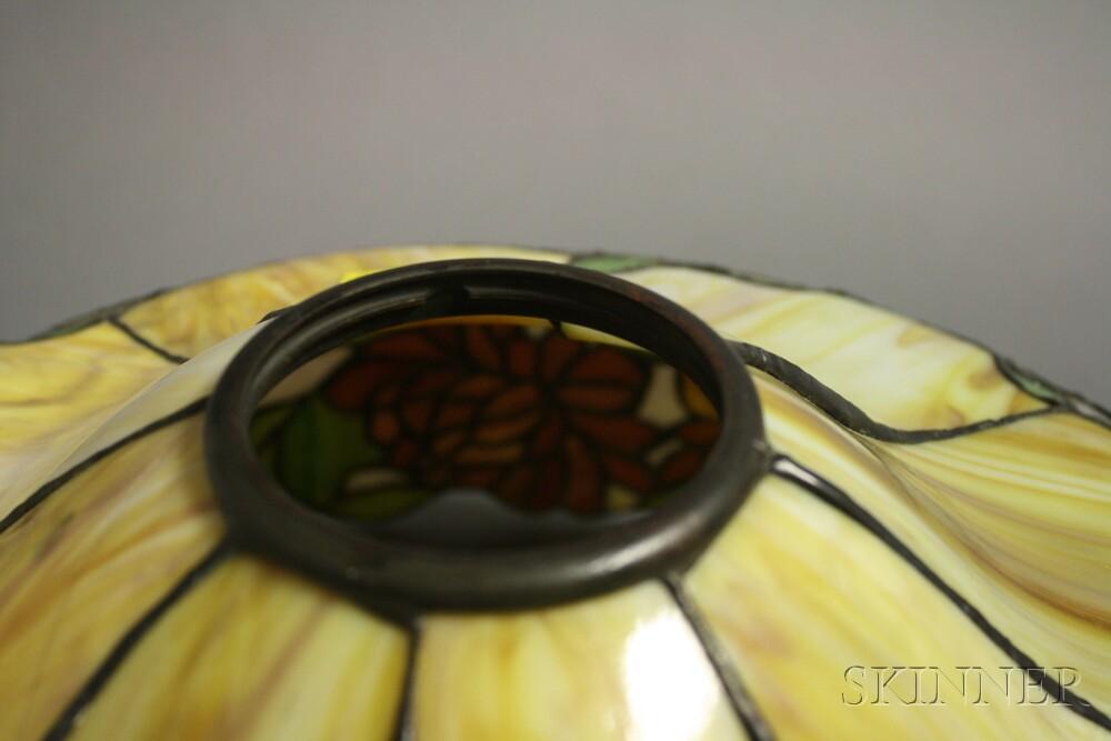 Mosaic Glass Chrysanthemum Lamp, Attributed to Wilkinson