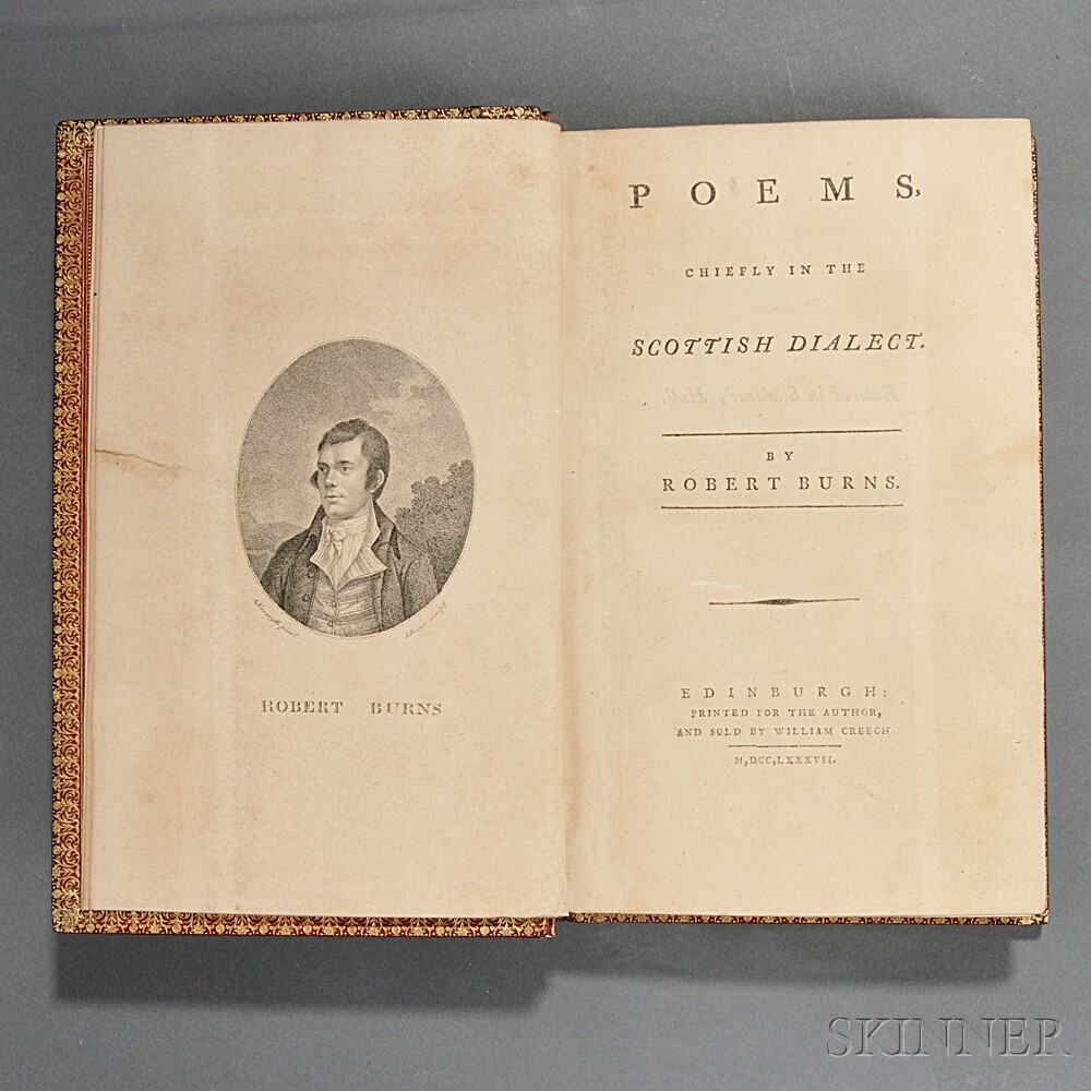 Burns, Robert (1759-1796) Poems Chiefly in the Scottish Dialect.