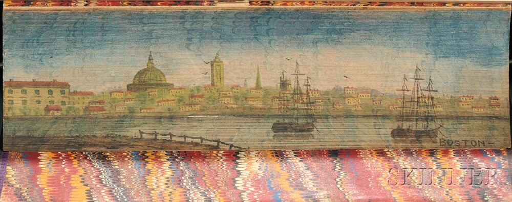 Fore-edge Paintings, Philadelphia and Boston, Two Volumes.