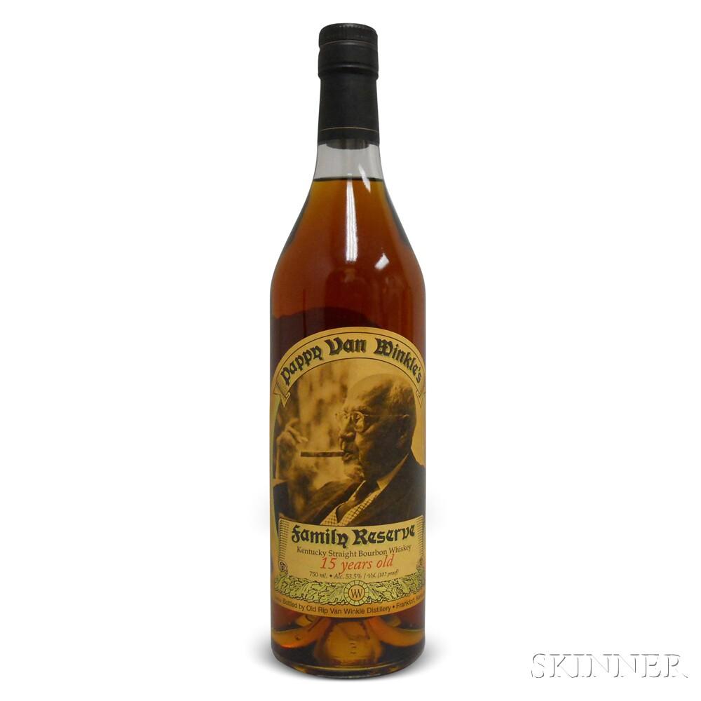 Pappy Van Winkle Family Reserve Bourbon 15 Years Old 2014, 1 750ml bottle