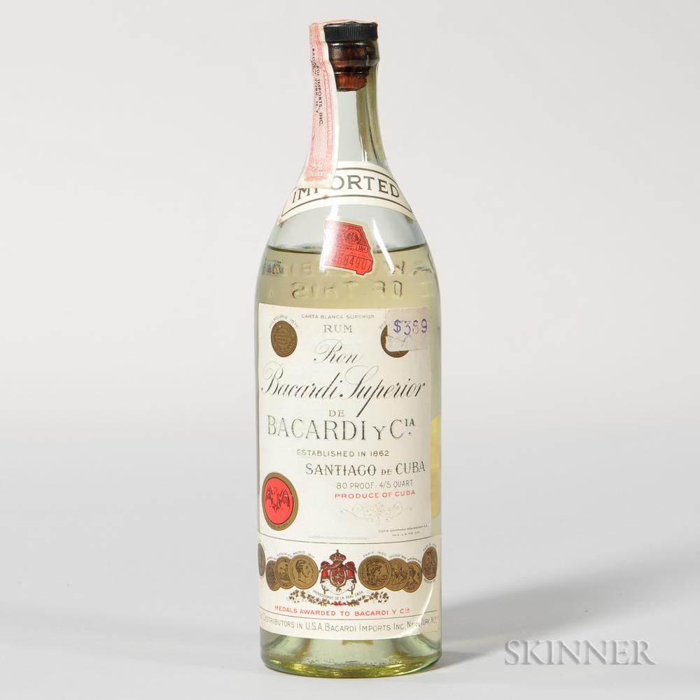 Ron Bacardi Superior, 1 4/5 quart bottle